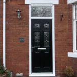 composite door black 4 lite