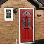 composite door red 3 lite