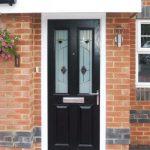 about-8 Composite Door Black Twin Vertical