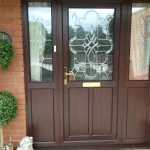 upvc rosewood bevelled glass 2